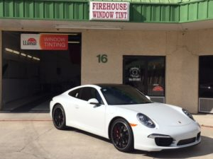 windows tint services for white sportscar |Fire House Window Tint